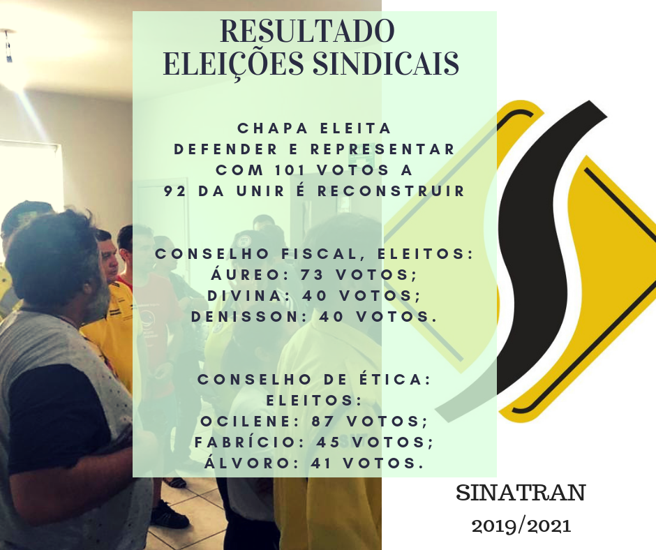 Resultado eleições sindicais