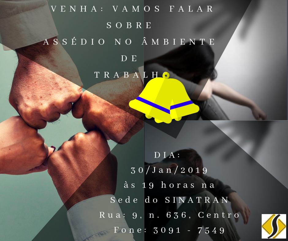 VENHA VAMOS FALARSOBRE ASSÉDIO NO ÂMBIENTE DE TRABALHO